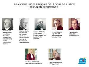 Les anciens juges français à la CJUE